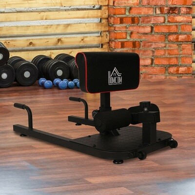 HOMCOM® Kniebeugentrainer Beintrainer 3 in 1 Trainer verstellbar rollbar bis 120 kg Schwarz