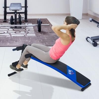 HOMCOM® Bauchtrainer Sit-Up-Bank Trainingsbank Schwarz 144 x 47 x 51-63cm