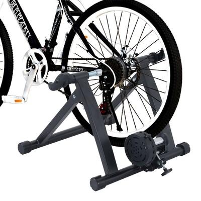 HOMCOM® Velo-Rollentrainer Rennrad Magnetbremse Stahl schwarz