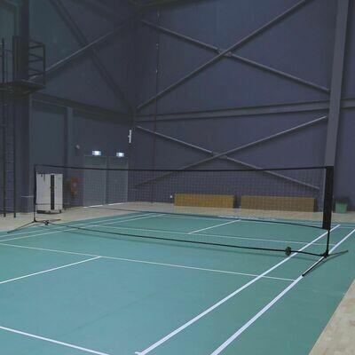 HOMCOM Badmintonnetz | Tragbar | Volleyball- und Tennis-Netz | 2 Höhen | 94/158cm | 400 x 60 cm | Tragetasche
