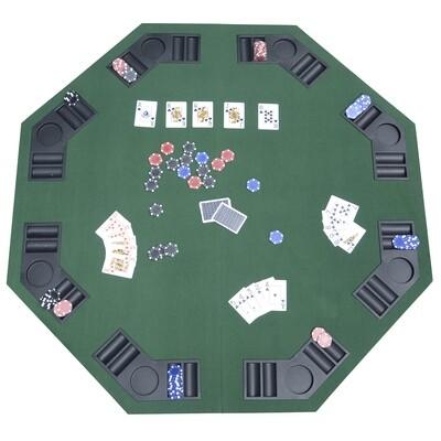 HOMCOM® Pokertischauflage Pokerauflage achteckig 120x120cm
