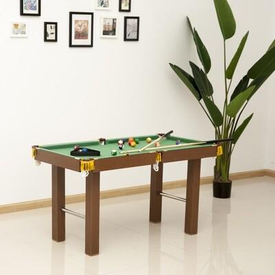 HOMCOM® Billardtisch Mini Billard Tisch Pool mit Kugeln Zubehör 123,5x66,5cm