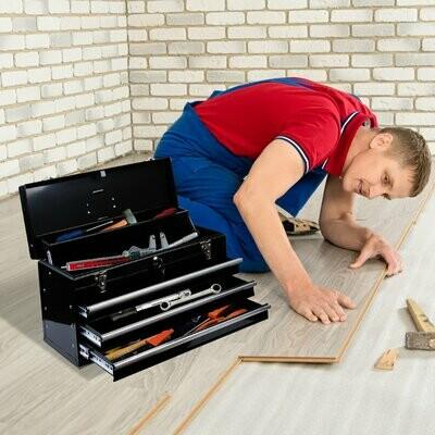 HOMCOM® Werkzeugkasten Werkzeugkoffer Metall 540x290x220 mm