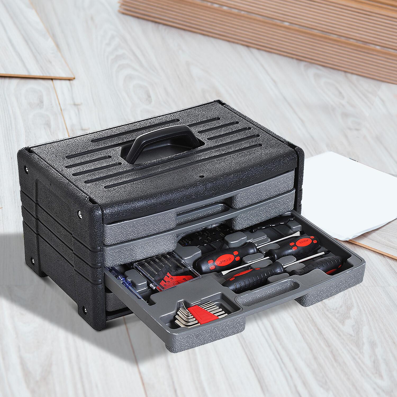 HOMCOM® Werkzeugkoffer 99-teilig Werkzeugsatz universal bestückt