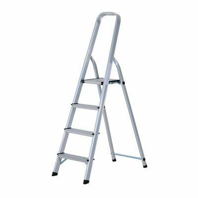 HOMCOM® Stehleiter Aluleiter Trittleiter Haushaltsleiter 4 Stufen