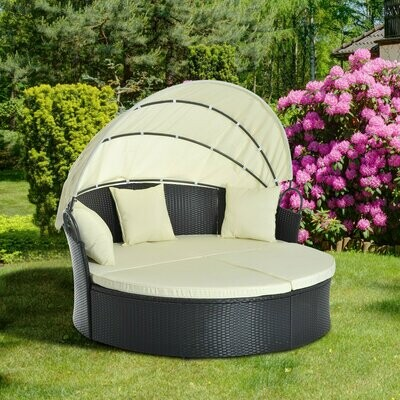 Outsunny® Sonneninsel Lounge Sonnenliege Wicker Polyrattan