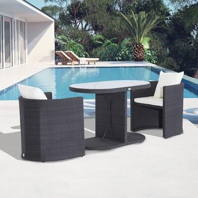 Outsunny® Gartenmöbel 7 tlg. Wicker Polyrattan zusammenstellbar