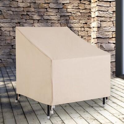 Outsunny® Abdeckung Gartenmöbel Schutzhülle Beige L68 x B87 x H77 cm