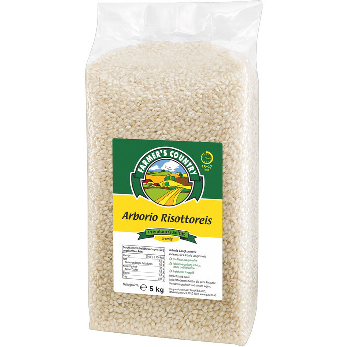 Grosspackung Country Arborio Risottoreis 2 x 5 kg = 10 kg