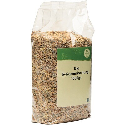 Grosspackung natürlich für uns Bio 6-Kornmischung 10 x 1 kg = 10 kg