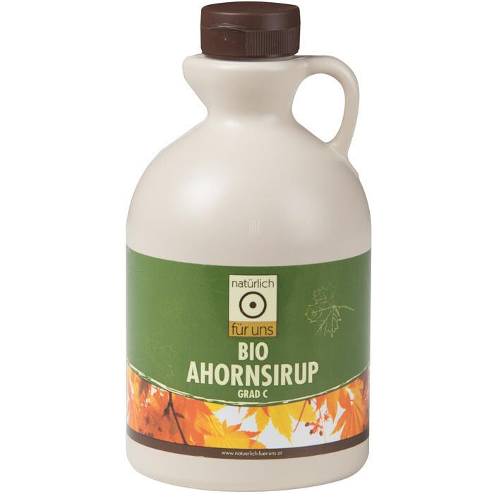 Grosspackung natürlich für uns Bio Ahornsirup Grad C 1,33 kg