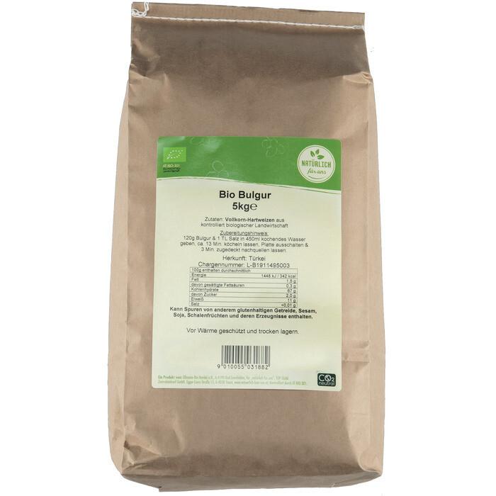 Grosspackung natürlich für uns Bio Bulgur 5 kg
