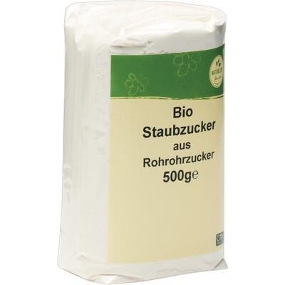 Grosspackung natürlich für uns Bio Rohr Staubzucker / Puderzucker 10 x 500 g = 5 kg