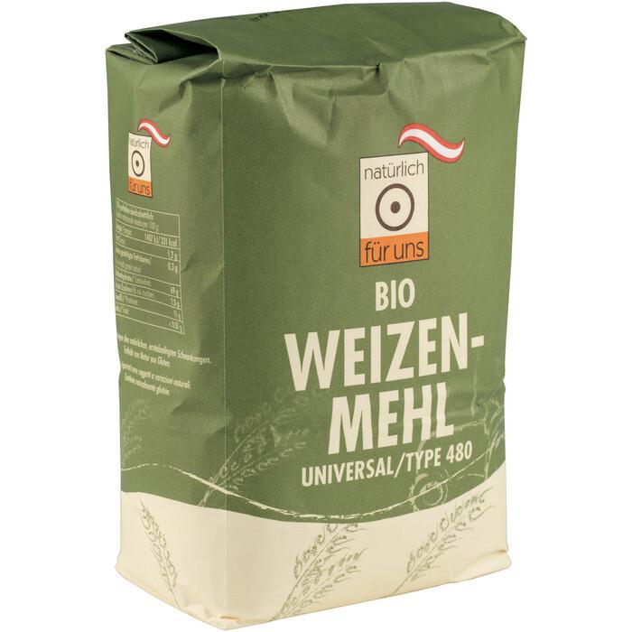 Grosspackung natürlich für uns Bio Weizenmehl griffig Type 480 10 x 1 kg = 10 kg