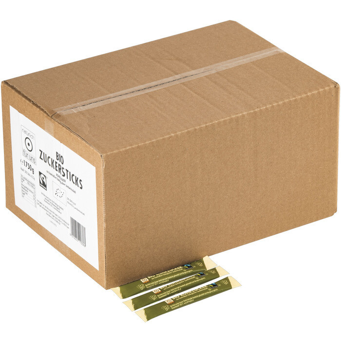 Grosspackung natürlich für uns Bio Rohrzucker-Sticks 500 x 3,5 g