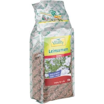 Grosspackung Vitality Leinsamen braun ganz 6 x 330 g = 1.98 kg