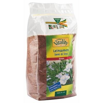 Grosspackung Vitality Leinsamen ganz 3 x 3 kg = 9 kg