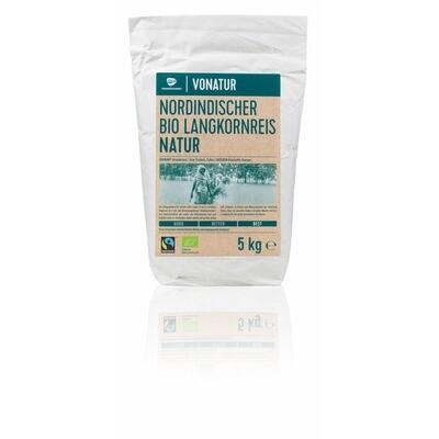 Grosspackung Vonatur Bio Langkornreis Natur 5 kg