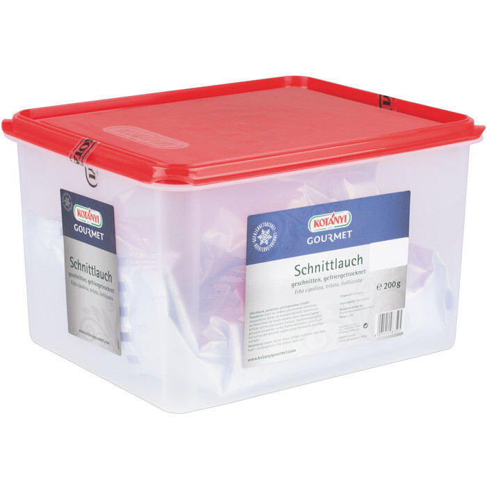Grosspackung Kotanyi Schnittlauch gefriergetrocknet + Gastrobehälter 200g
