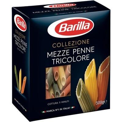 Grosspackung Barilla Mezze Penne tricolore 14 x 500 g = 7 kg