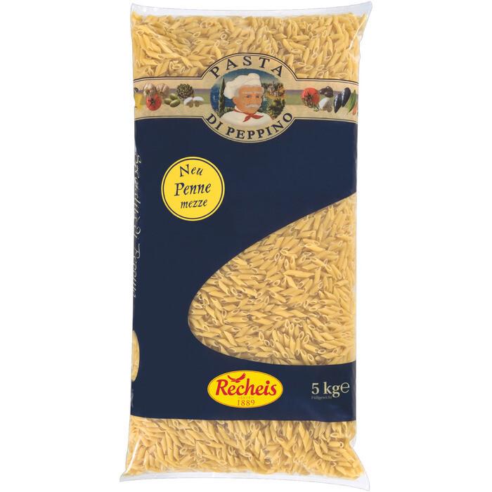 Recheis Grosspackung Pasta di Peppino Penne Mezze 5 kg