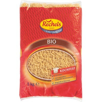 Grosspackung Recheis Bio Spiralen 5 kg Pasta Nudeln