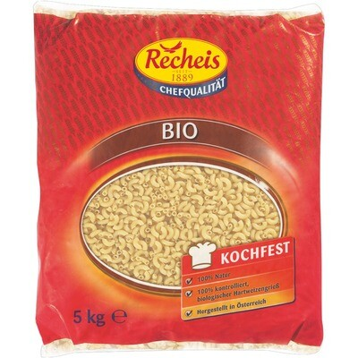 Grosspackung Recheis Bio Teigwaren Hörnli glatt 5 kg Pasta Nudeln