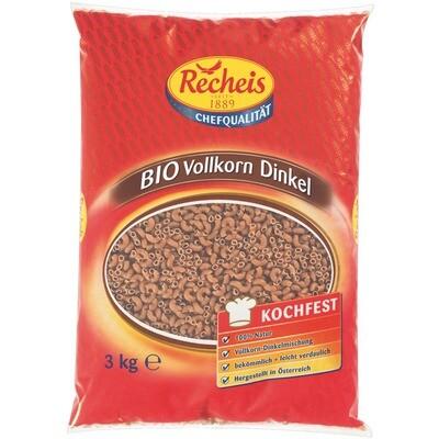 Grosspackung  Recheis Bio Vollkorn mit Dinkel Hörnli 3 kg Pasta Nudeln