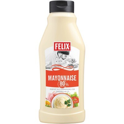 Grosspackung Felix Mayonnaise 80% Fett 8 x 1,1 kg = 8,8 kg