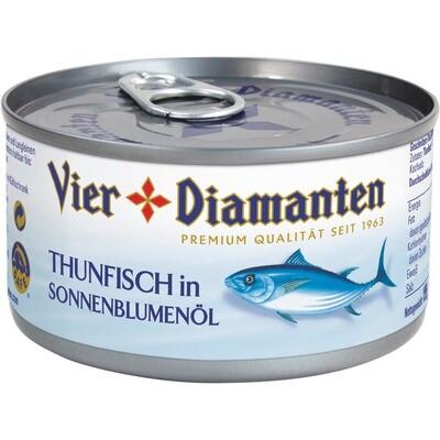 Grosspackung 4-Diamanten Thon Thunfisch in Öl 24 x 195 g = 4,68 kg