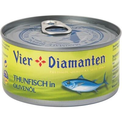 Grosspackung 4-Diamanten Thon / Thunfisch in Olivenöl 12 x 185 g = 2.22 kg