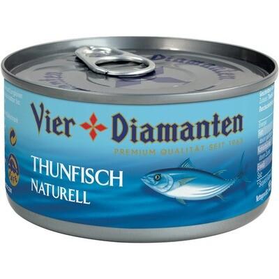 Grosspackung 4-Diamanten Thon / Thunfisch natur 24 x 195 g = 4,68 kg