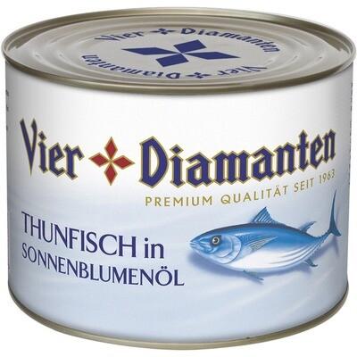 Grosspackung 4-Diamanten Thon / Thunfisch in Sonnenblumenöl 1,88 kg