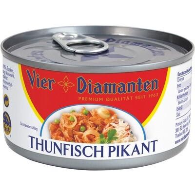 Grosspackung 4-Diamanten Thon / Thunfisch pikant 24 x 185 g = 4,44 kg