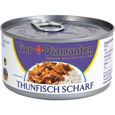 Grosspackung 4-Diamanten Thon / Thunfisch scharf 24 x 185 g = 4,44 kg