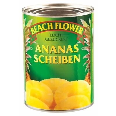 Grosspackung Beach Flower Ananasscheiben 6 x 0.34 kg = 2,04 kg