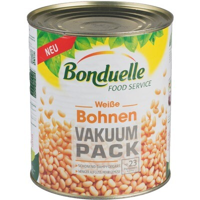 Grosspackung Bonduelle Weiße Bohnen Vakuum Pack 3 x 2.35 kg = 7,05 kg