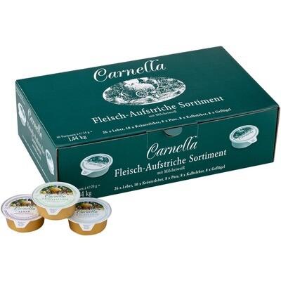 Grosspackung Carnella Fleischaufstriche sortiert 60 x 24 g = 1.44 kg
