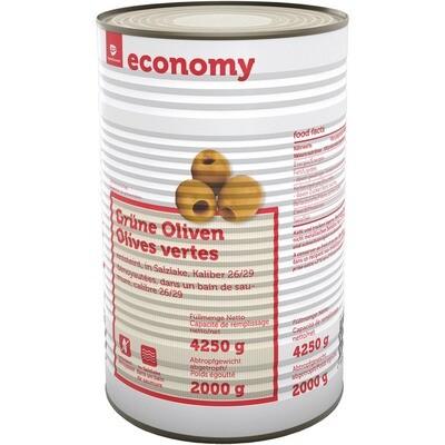 Grosspackung Economy Oliven grün ohne Stein 2 kg
