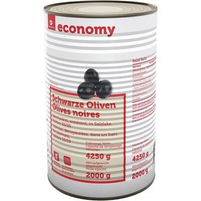 Grosspackung Economy Oliven schwarz ohne Stein 2 kg