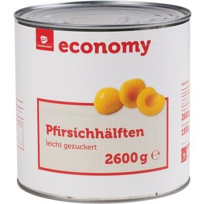 Grosspackung Economy Pfirsichhälften 6 x 1,5 kg = 9 kg