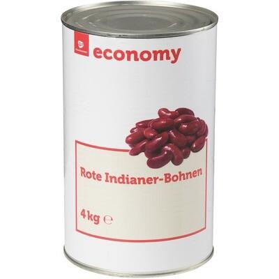 Grosspackung Economy rote Indianer Bohnen 3 x 2,55 kg = 7,65 kg  Kidney