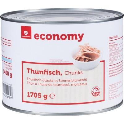 Grosspackung Economy Thunfischstücke in Öl 1705 g