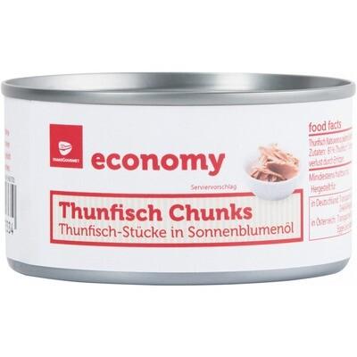 Grosspackung Economy Thunfischstücke in Öl 48 x 185 g = 8,88 kg