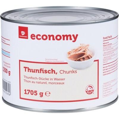 Grosspackung Economy Thunfischstücke in Wasser 1705 g