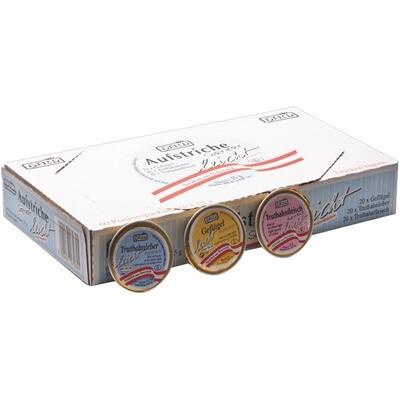Grosspackung Ham Aufstriche sortiert leicht 60x25 g= 1,5 kg