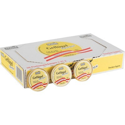 Grosspackung Ham Geflügel Aufstrich 60x25 g= 1,5 kg