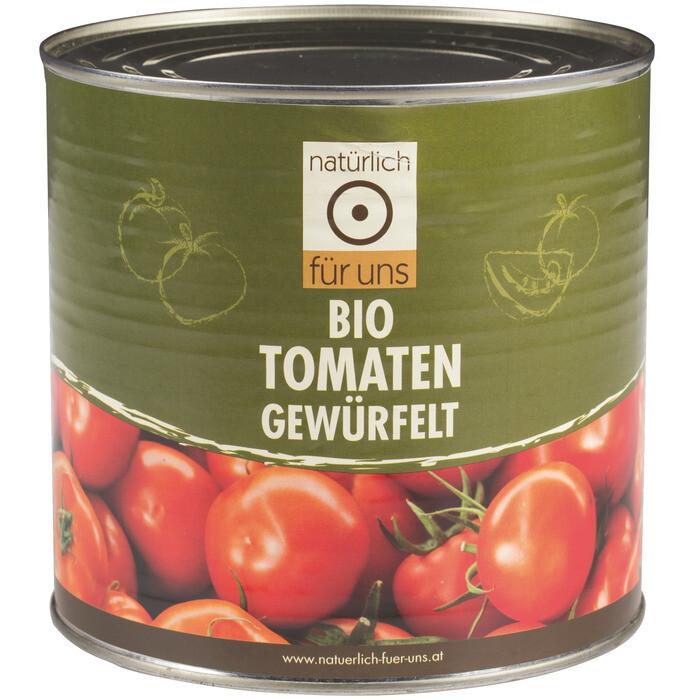 Grosspackung natürlich für uns Bio Tomaten gewürfelt 6 x 2,55 kg