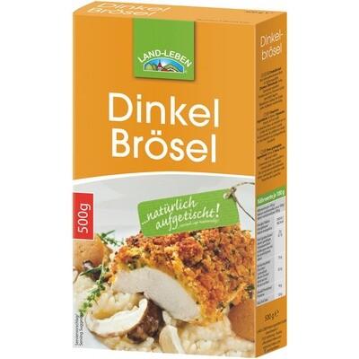 Grosspackung Land Leben Dinkel Brösel / Paniermehl 8 x 500g = 4 kg