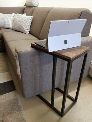 Beistelltisch Sofatisch Laptoptisch C-Tisch 40x60x25 cm Liverpool Metall-Gestell schwarz